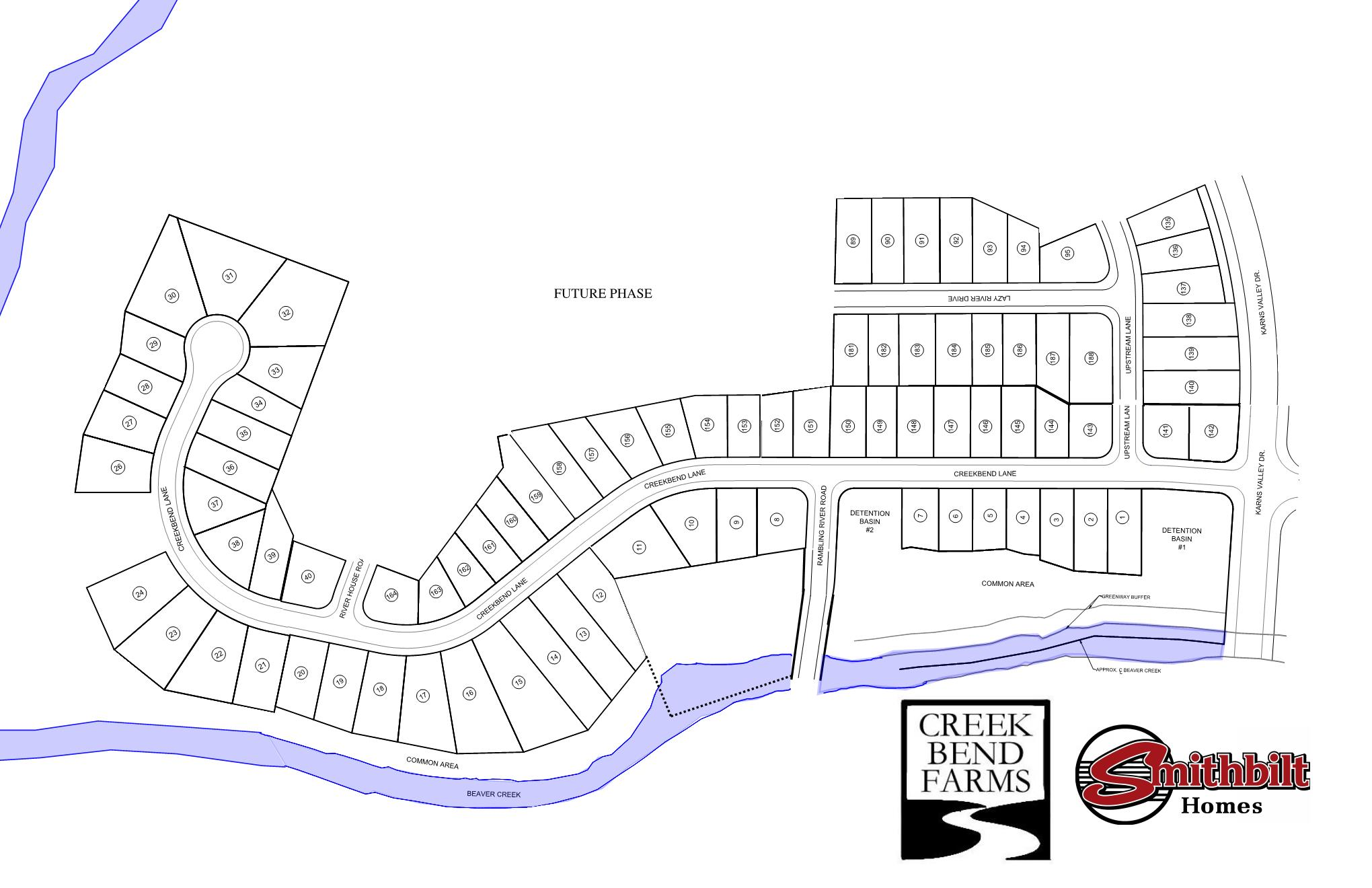 Creek Bend Farms Phase 1, 2 and 3