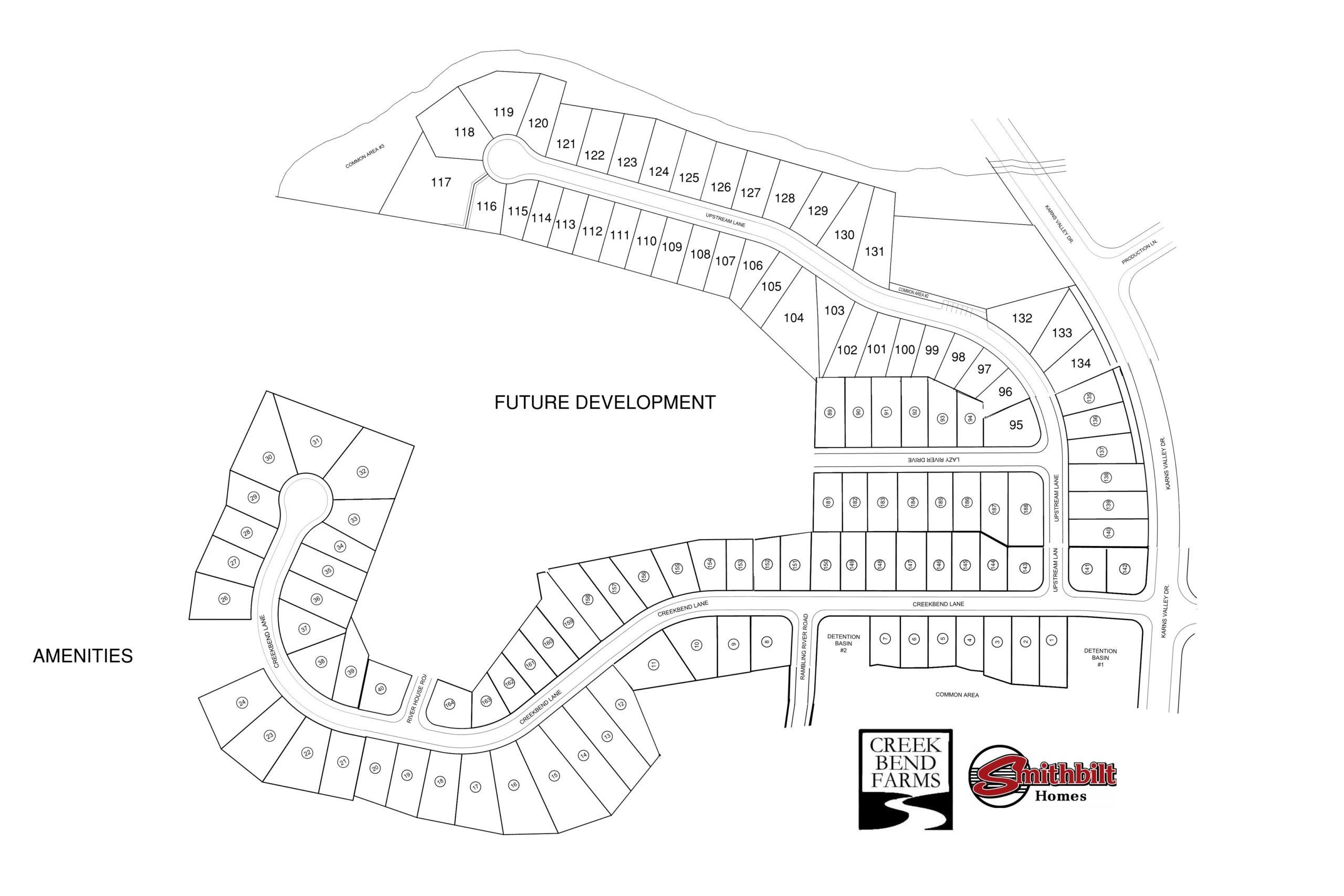 Creek Bend Farms  Sales map